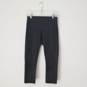 Lululemon grey high waisted cropped leggings